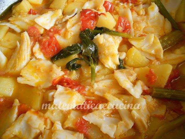 accio (sedano), patane e baccalà- zuppa sedano, patate e baccalà