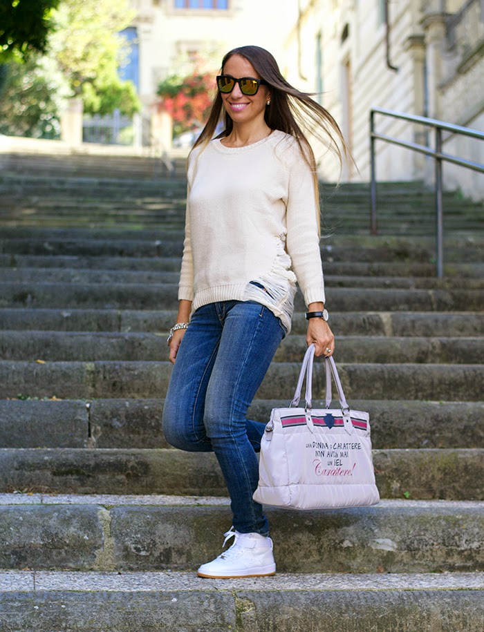 look casual bianco