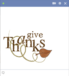 Give thanks Facebook emoticon