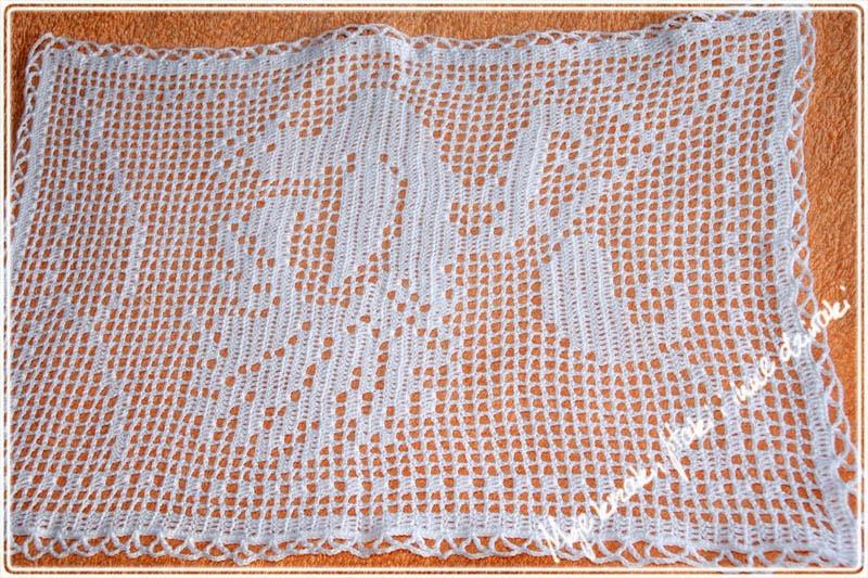 serwetki na szydełku, napkins made of crochet