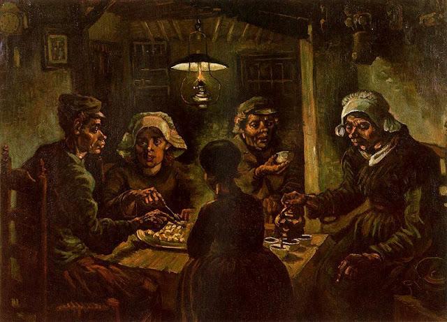 Artes visuales colegio santa in s postimpresionismo - Van gogh comedores de patatas ...