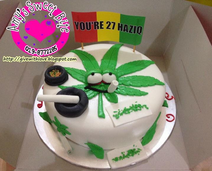 Marijuana Cake Decorations