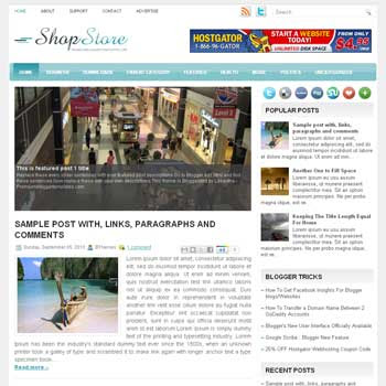 ShopStore blog template. magazine blogger template style. magazine style template blogspot. free blogspot template