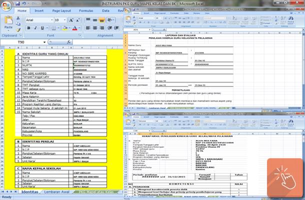Aplikasi Instrumen PKG untuk Berkas DUPAK dan Input Dapodik