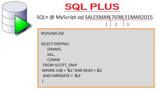 Passing parameters to sqlplus script in Oracle