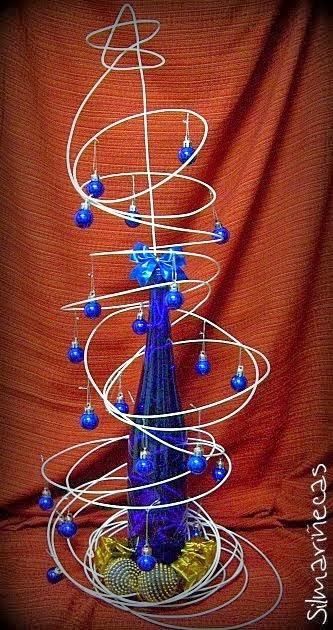 Árbol de Navidad de alambre de botella