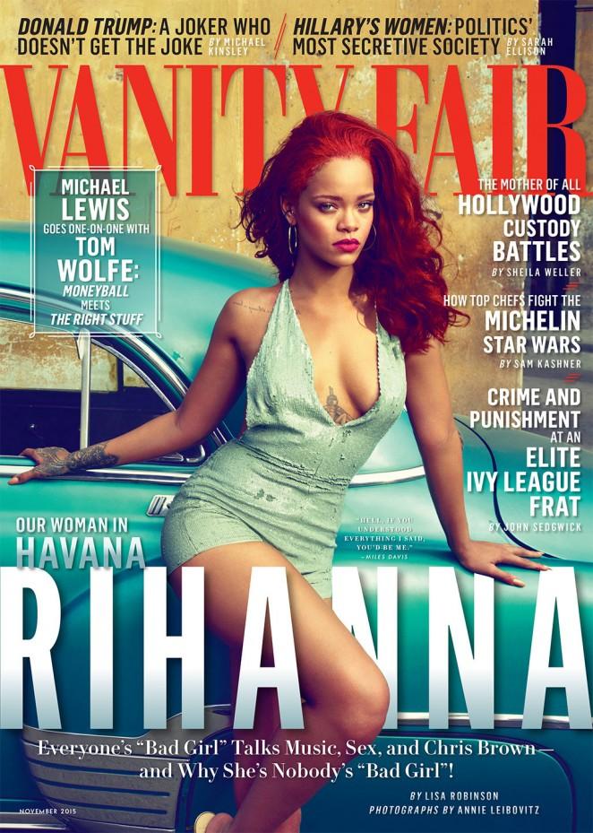 Rihanna heats up Vanity Fair's November 2015 issue