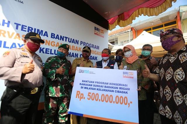 Konservasi Sungai Babakan Irigasi Pagarsih Mendapat Bantuan dari BRI