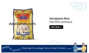 Aeroplane & Palm Tree Basmati Rice 50% Cashback – PayTm