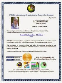 سفيرة للنوايا الحسنة في العراق