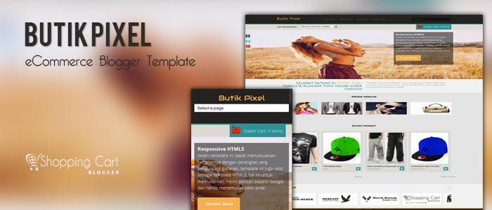 Butik pixel Blogger Template checkout ipaymu