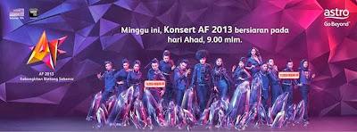 Senarai Lagu Bintang AF 2013 Minggu Ketiga, peserta af 2013, lagu minggu ke-3 af 2013