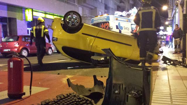 imagenes del accidente en la corredera de Béjar
