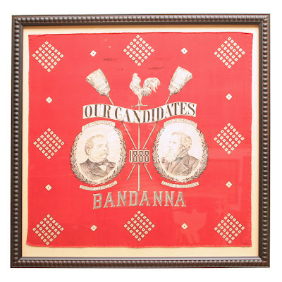 Cleveland and Thurman Political Bandana 1888