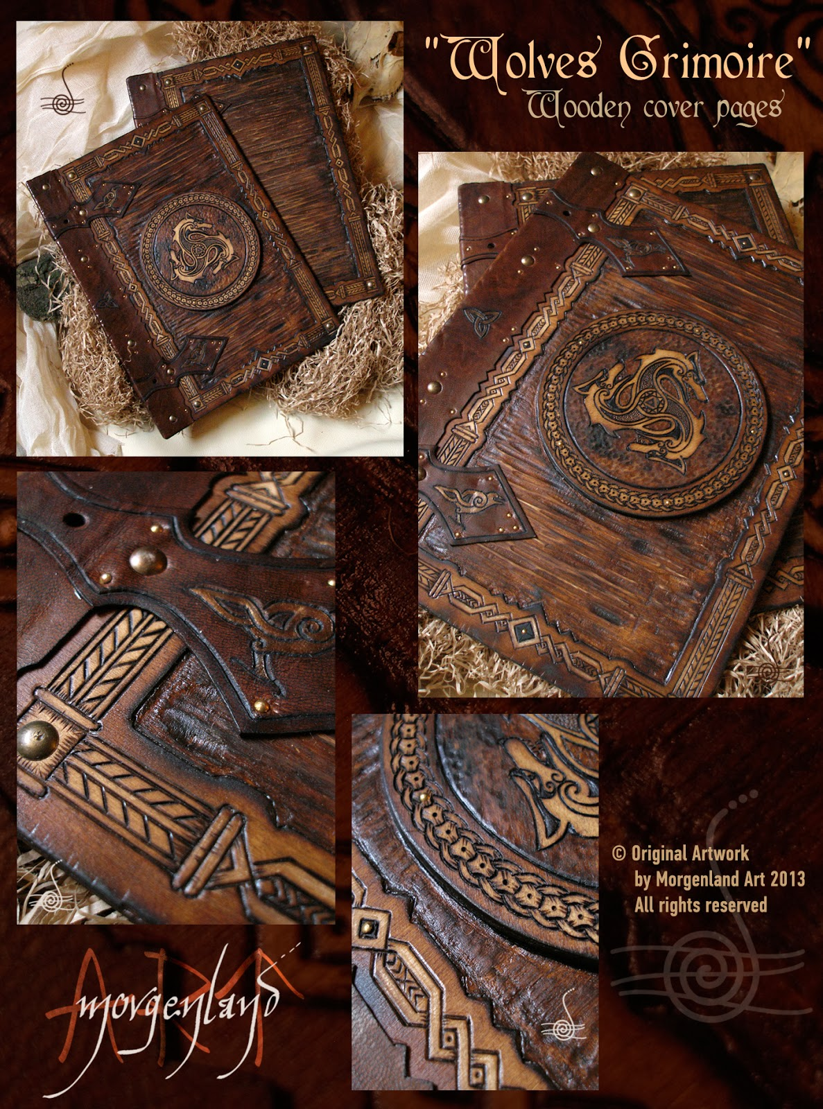 Book Of Shadows Cover Diy ~ Morgenland art unique handmade creations get inspired from