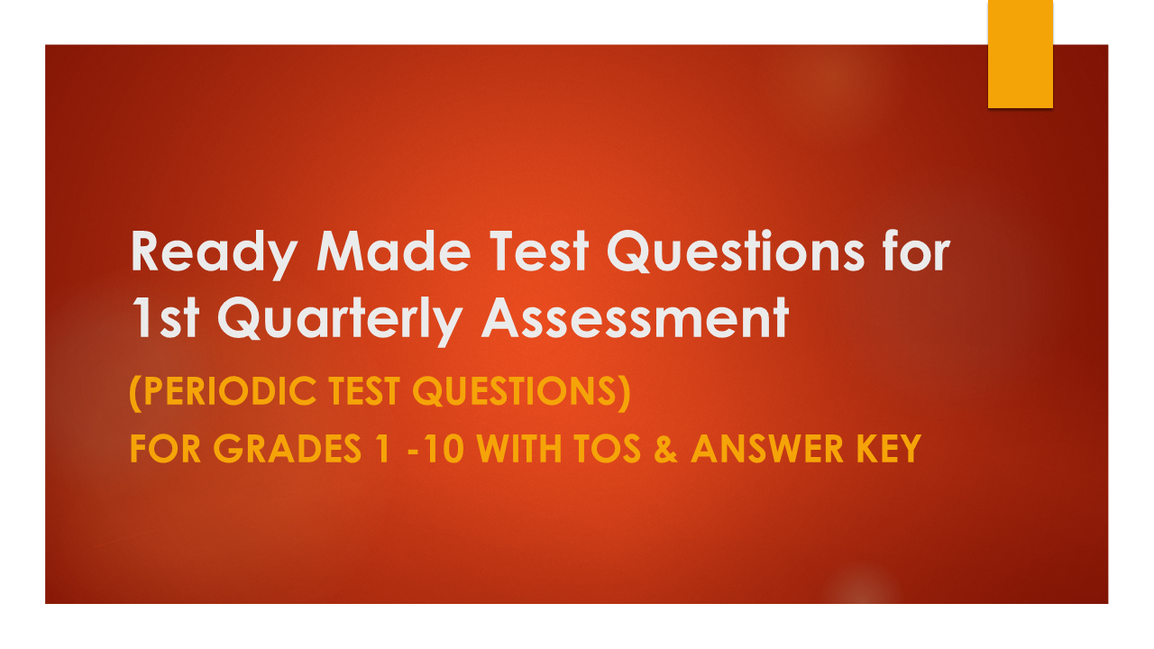 Ready Made Test Questions