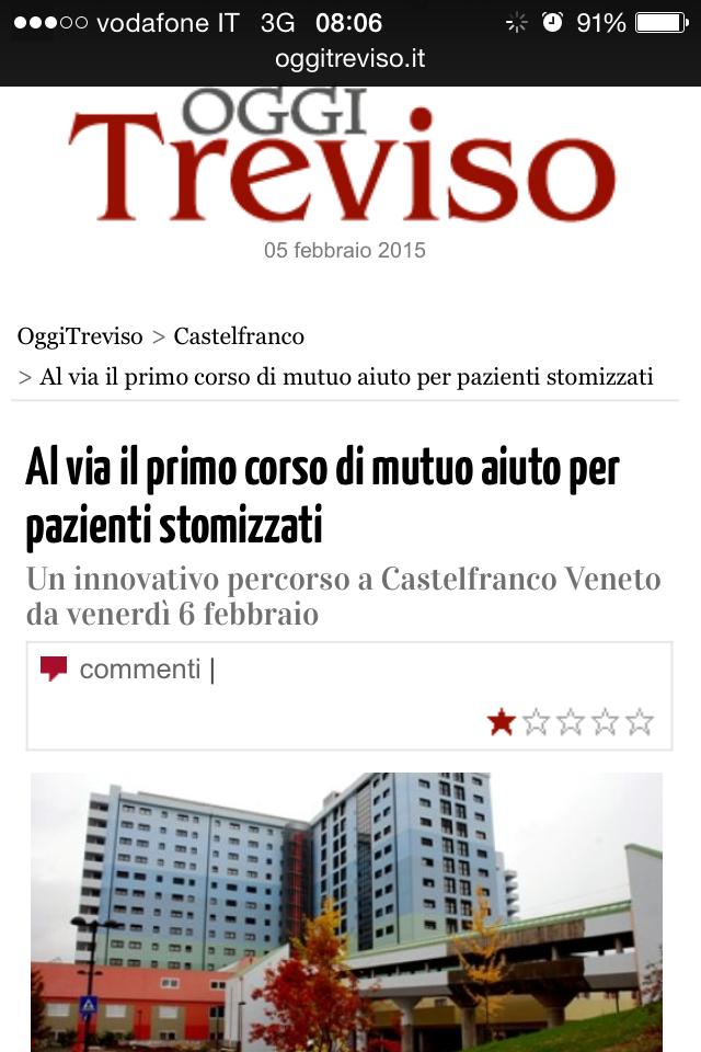 """""""Oggi Treviso"""" parla di noi !"""