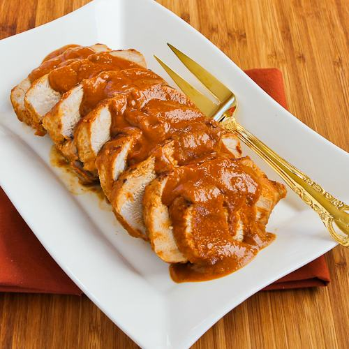 Slow Cooker Pork Roast with Spicy Peanut Sauce