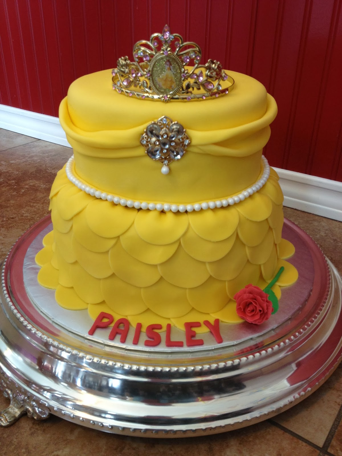 Sugar Love Cake Design: Princess Belle Dress