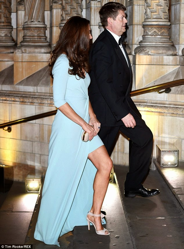 Kate Middleton Shows Off Toned Legs In A Jenny Packham