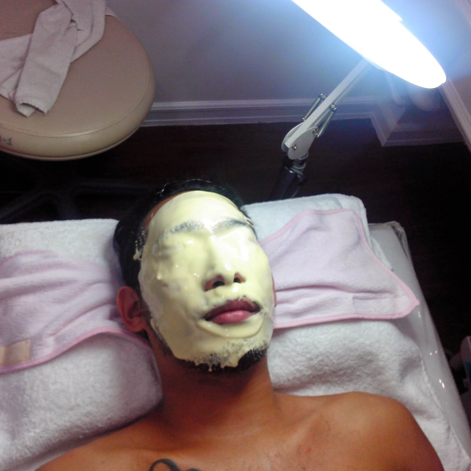 Capping the whole process with a cold minty mask to close the pores.