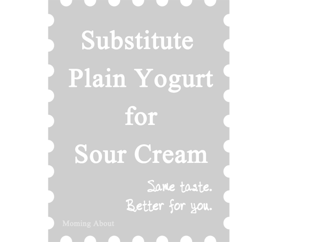 Substitute Yogurt for Sour Cream