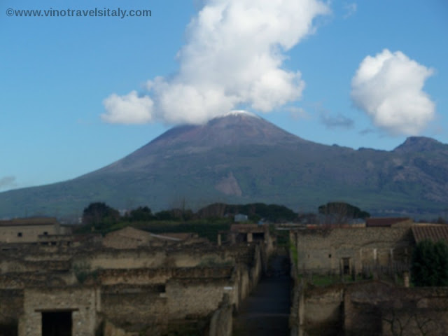 Mt. Vesuvius over Pompeii