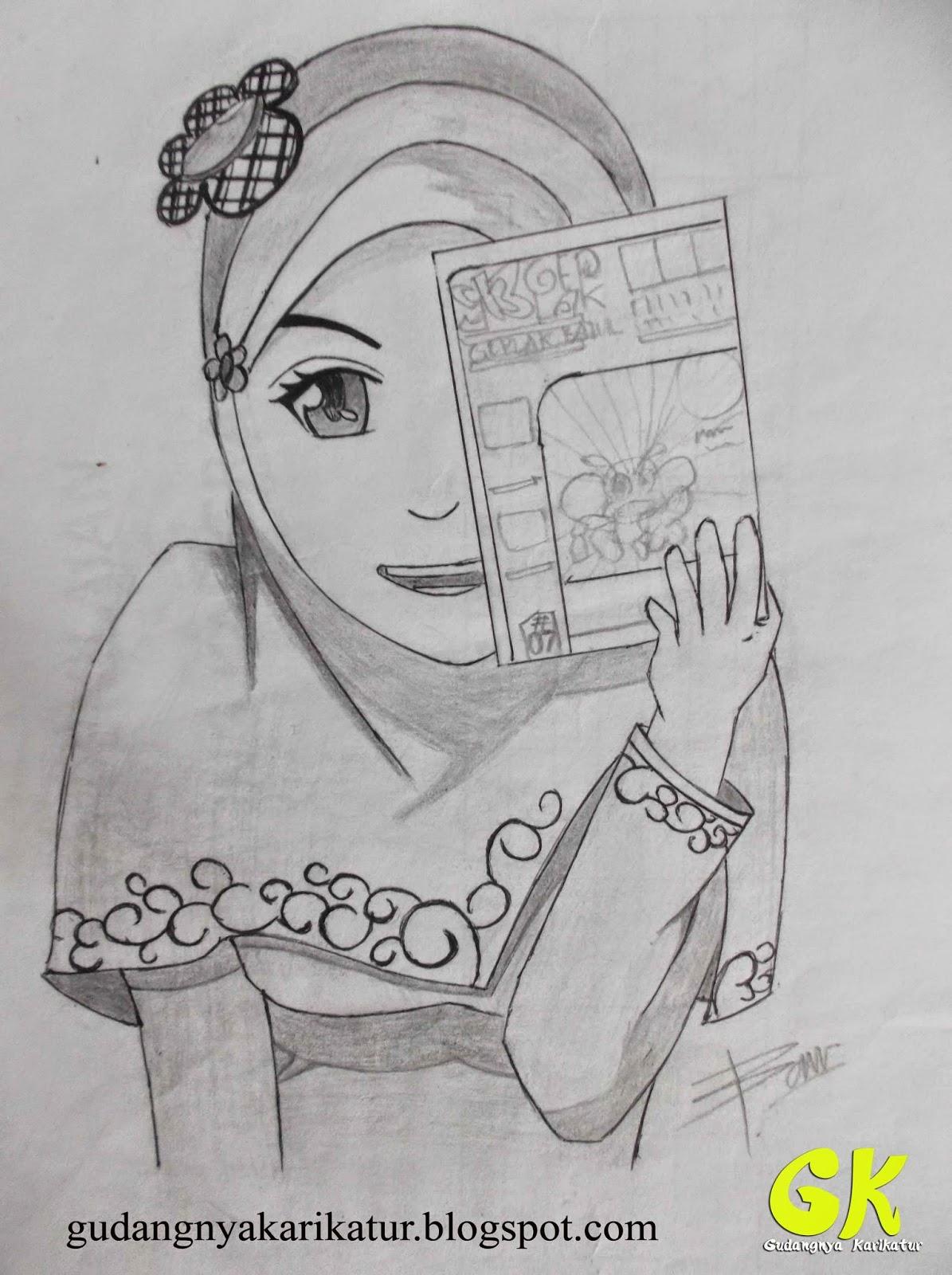 Gambar lukisan kartun hitam putih keren