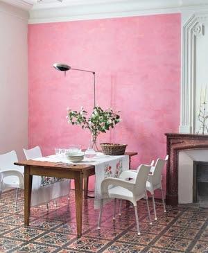 comedor rosa