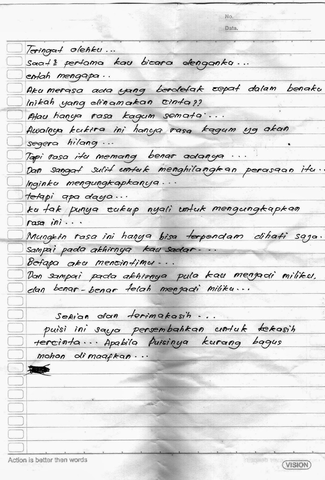 Surat Cinta Dari Sang Pacar