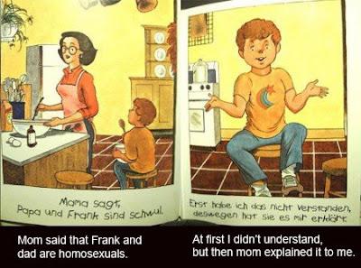 mamá le explica al niño sobre la nueva pareja de papá