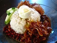 nasi lemak coconut rice ikan bilis sambal