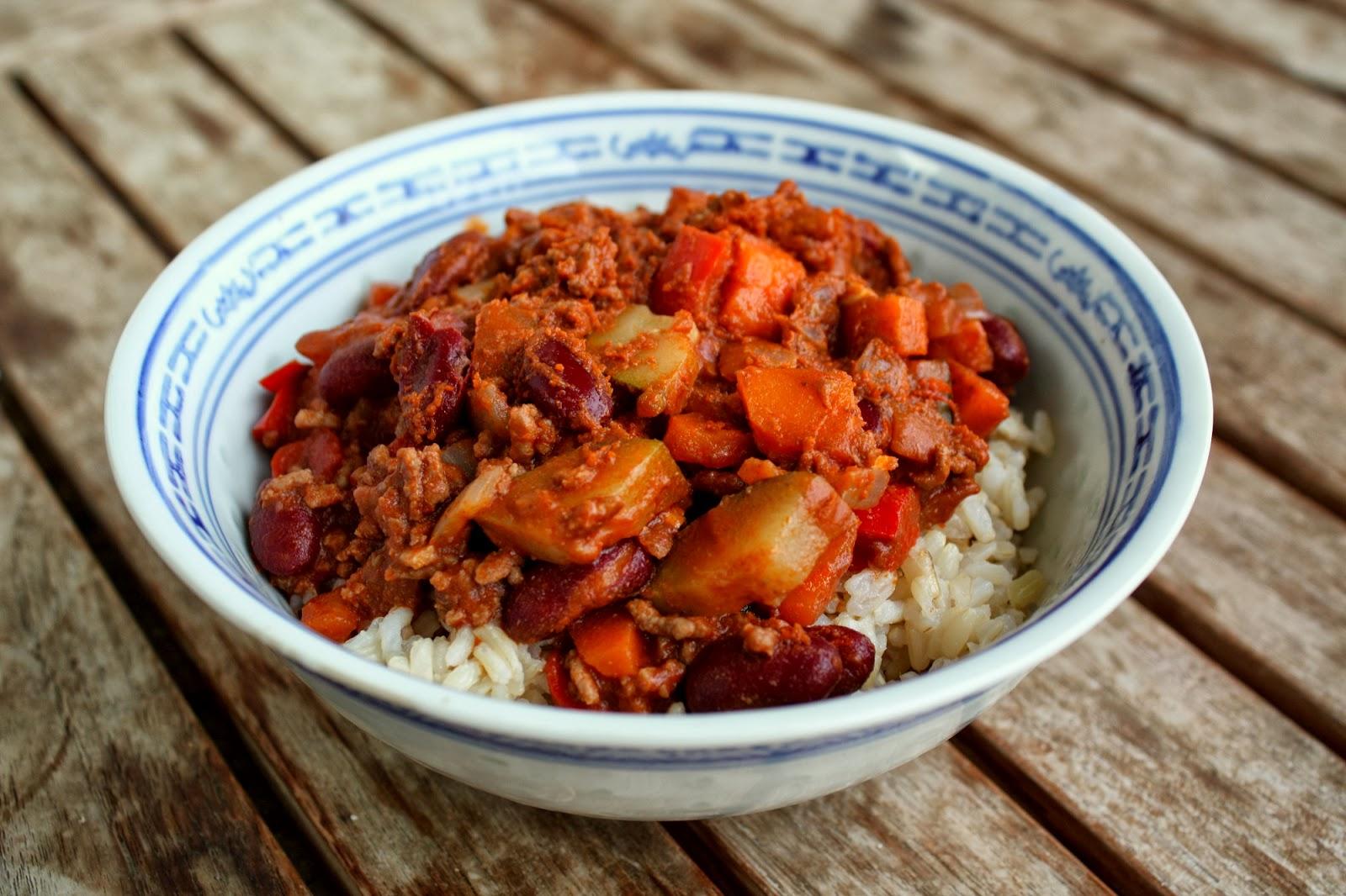 chili con carne med kanel
