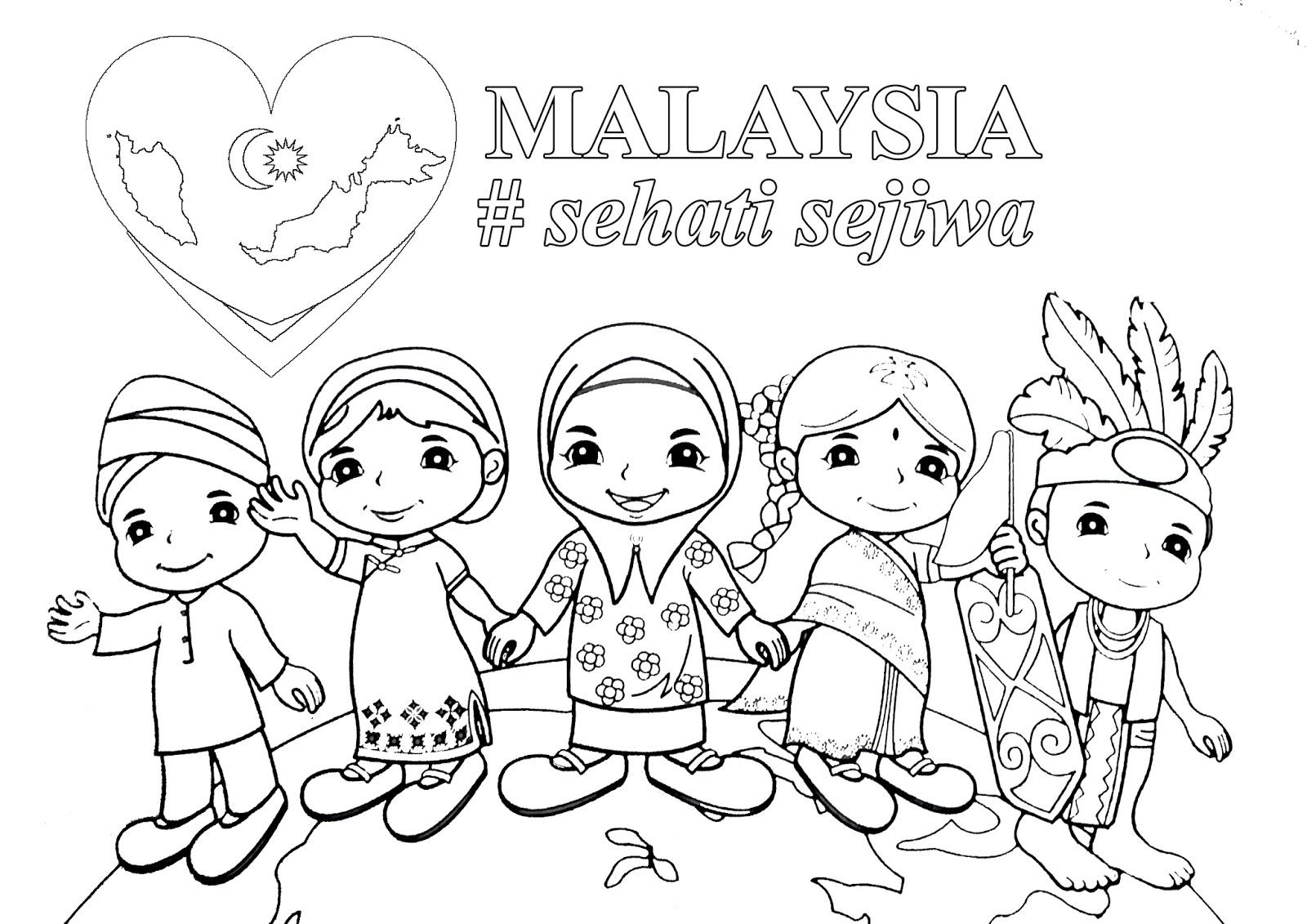 Poster Mewarna Malaysia Sehati Sejiwa