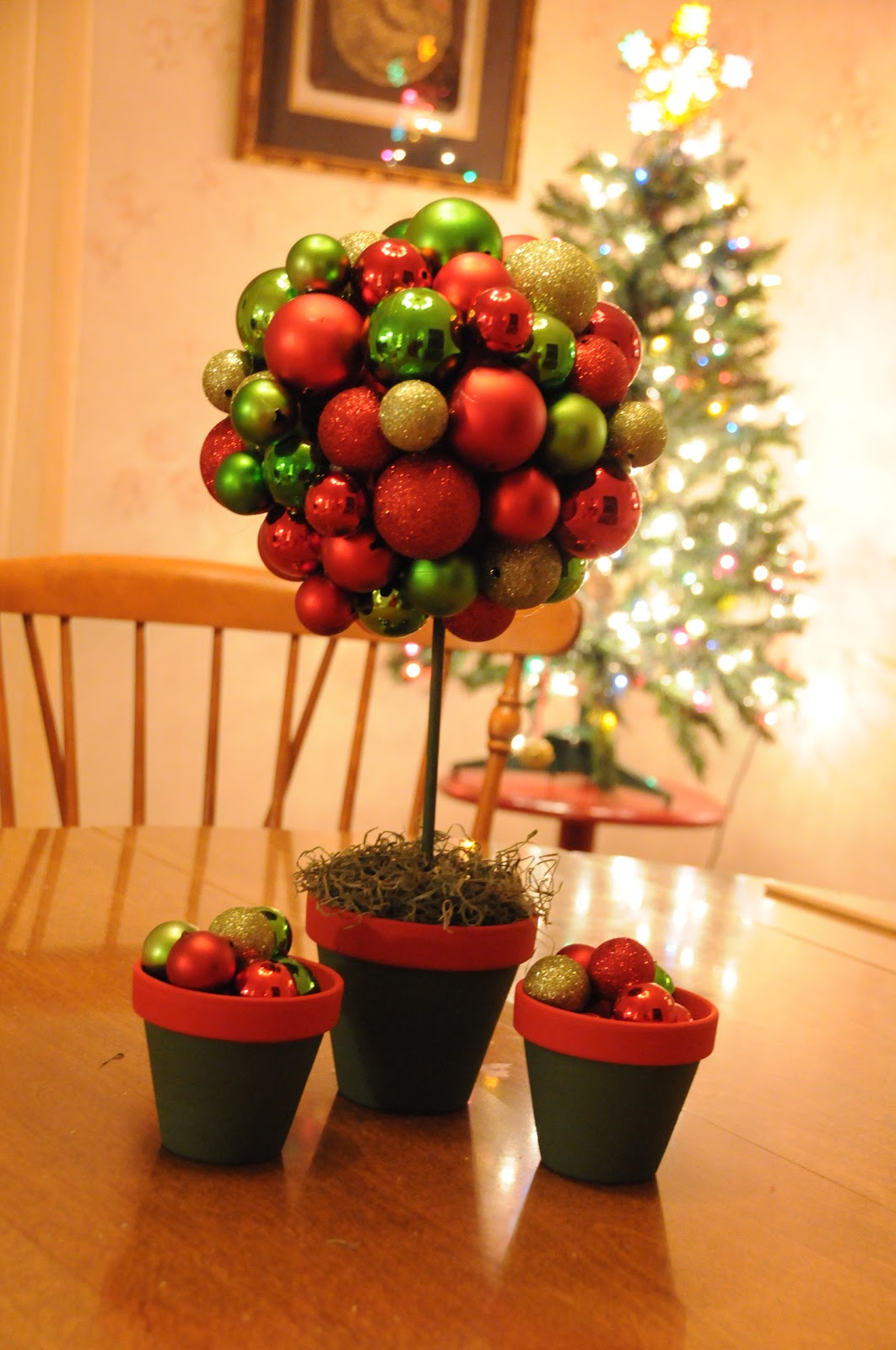 Made by carie table top christmas topiary