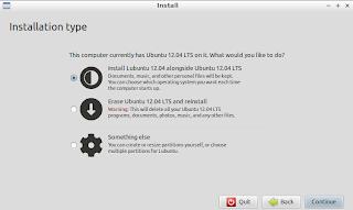Installation type of Lubuntu Linux