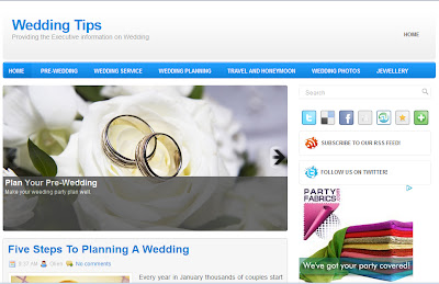 Blogger Template For Wedding Blog