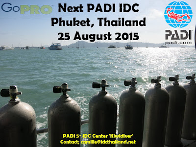 Next PADI IDC on Phuket, Thailand starts 25th August 2015