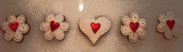 Galletas fondant corazones