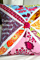 Cathedral Window Pillow Cushion Cover Tutorial