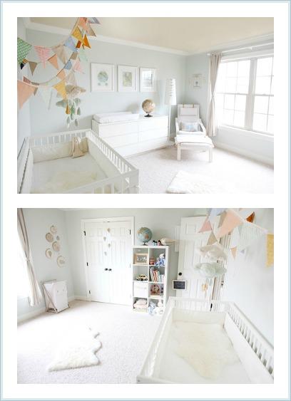 habitación de bebé en tonos pastel / www.anabelarthome.blogspot.com