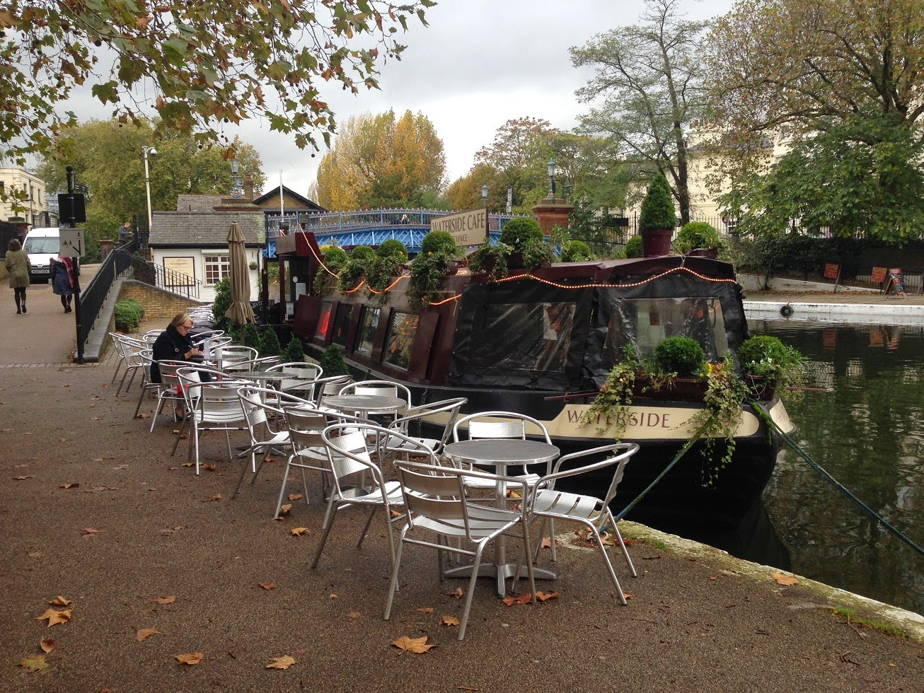 Canal boat café, Little Venice, London