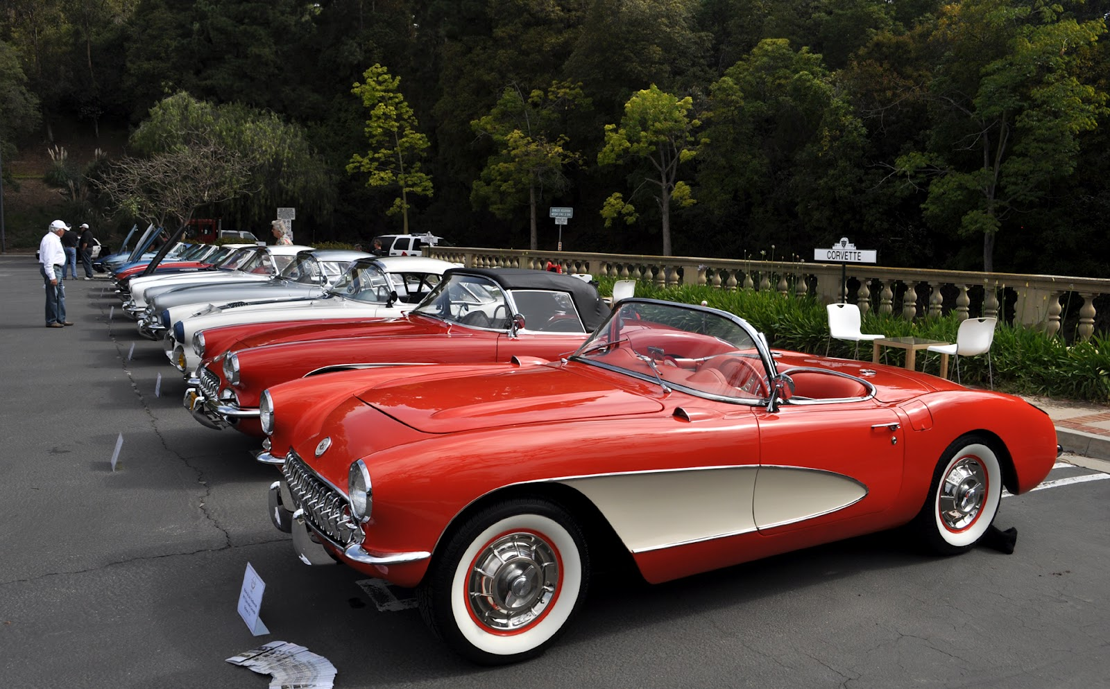 Classic Cars Authority: The Corvette row was long and had a ...
