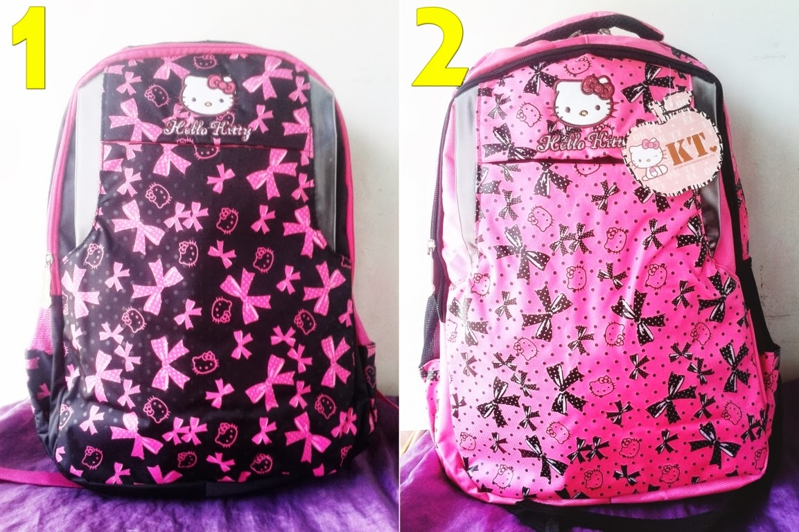Grosir Tas Travel Bag Anak Karakter Hello Kitty Murah Sekolah Sd Set Meriah