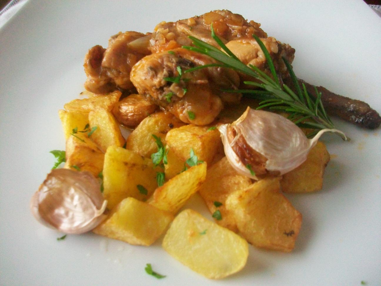Aprendiendo a cocinar conejo en salsa con patatas confitadas for Cocinar un conejo