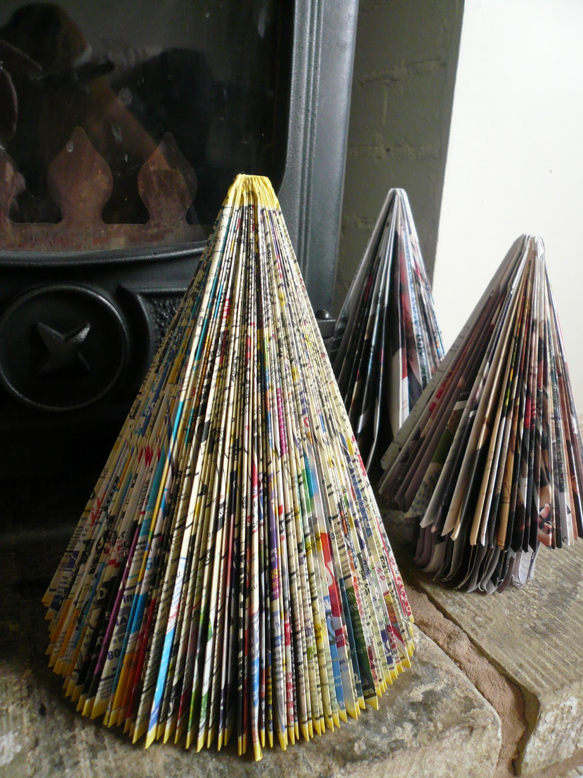How To Make A Book Tree ~ Five go ging how to make angels and christmas trees