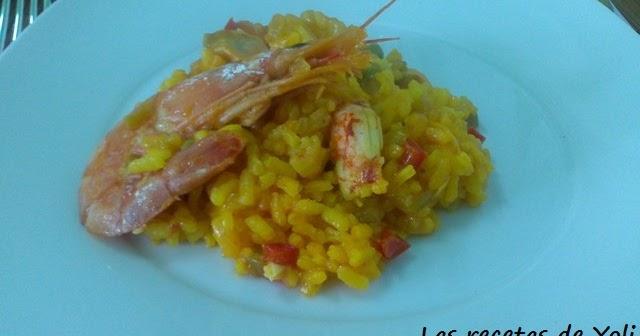 Las recetas de yoli arroz con vieiras y langostinos for Cocinar vieiras