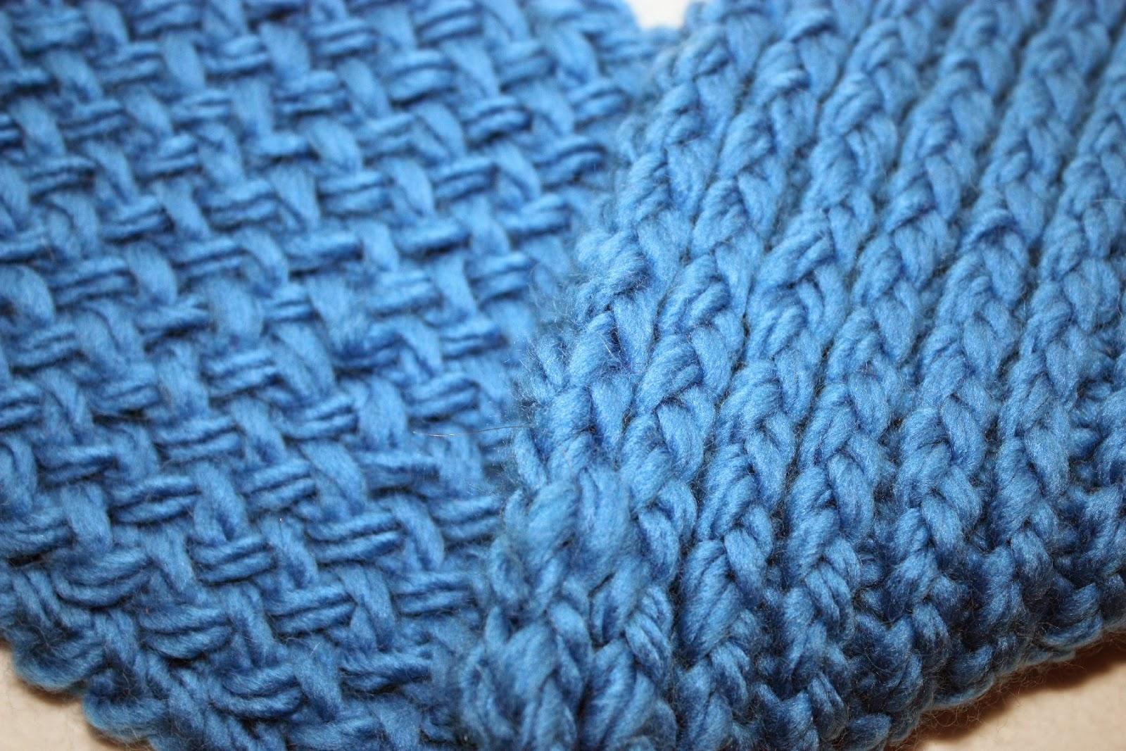 sjaal; breiraam; achtjessteek; breien; dubbelzijdig;