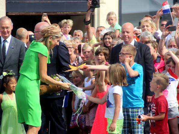 Queen Maxima of The Netherlands attends the official opening of the new nursing center 's Hamrik in Nieuwolda,