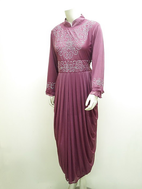 Gaun Gamis Pesta Elegant Model Syahrini High Twist Import | LC-3622-Pnk